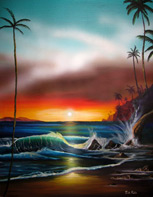 Hawaii Sunset 21x18